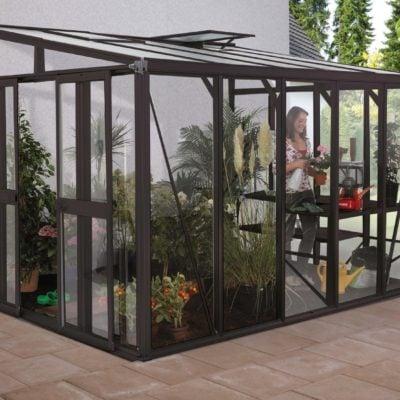 seinaäärne kasvuhoone veranda