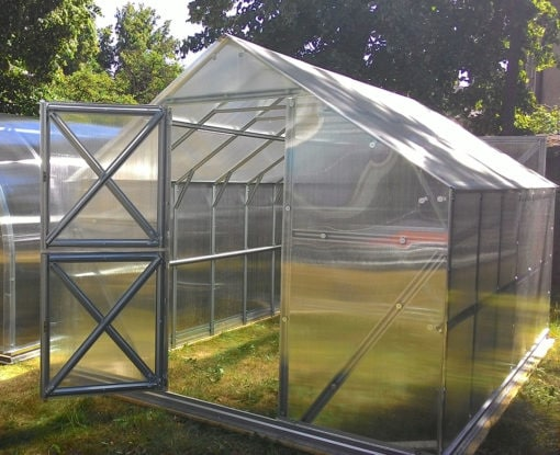 Kasvuhoone viilkatusega AL-EV