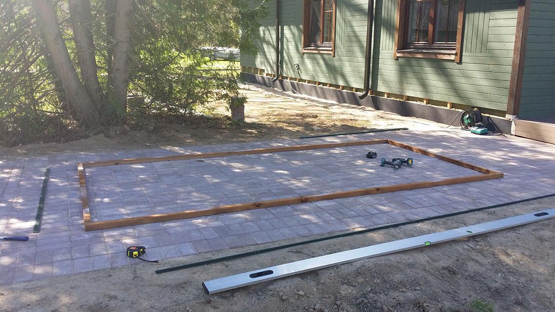 Kasvuhoone puidust alusraam