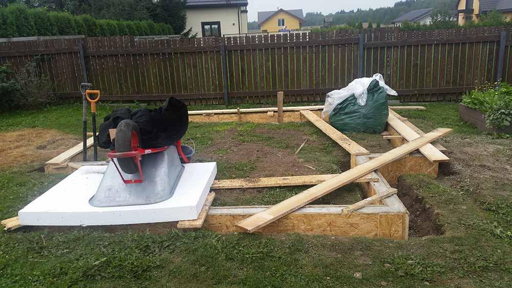 Kasvuhoone vundamendi tegemine