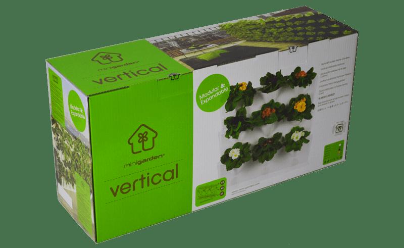 Vertikaalse 9-taimekohaga peenramooduli pakend